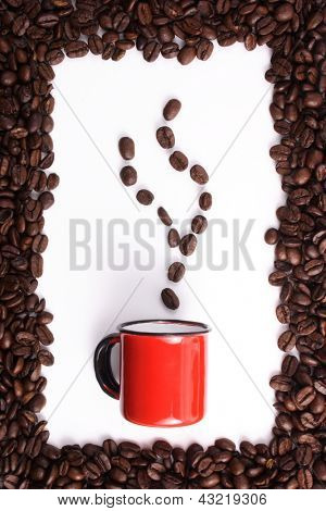 Photo of Coffee beans and cup