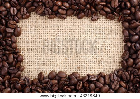 Photo of Coffee beans as frame