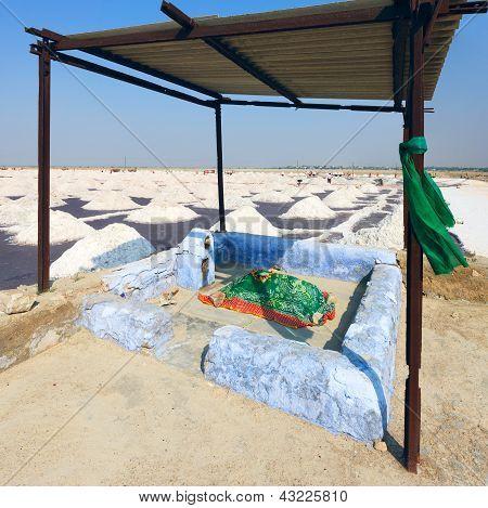 Salt Works, Sambhar Salt Lake, Rajasthan, India