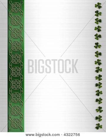 St Patricks Day Celtic Knot Border
