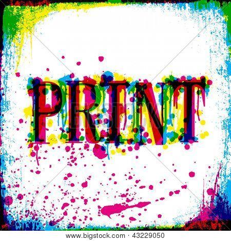 Print concept grunge design. Vector, EPS10