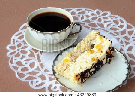 coffee and layer-cake