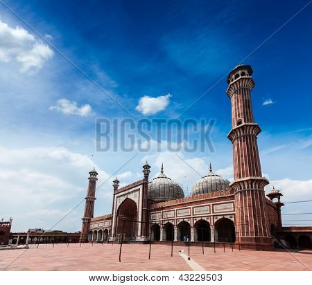 Jama Masjid - largest muslim mosque in India. Delhi, India