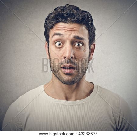 portrait of surprised man