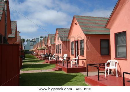 Pink Houses In A Row