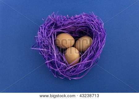 Heart Shaped Easter Nest