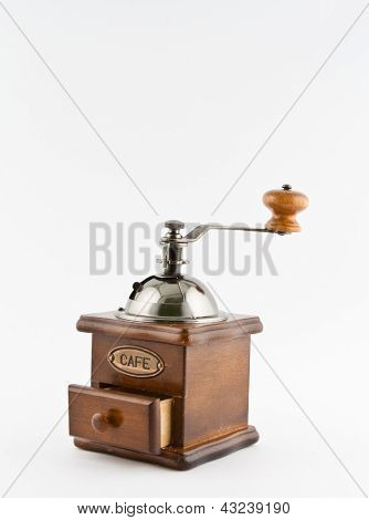 Old-fashioned manual coffee mill