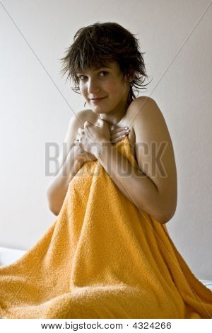 Girl With Bath Towel.
