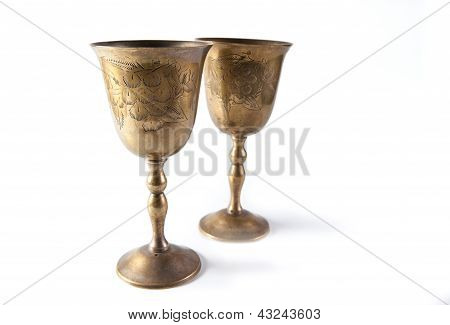 Bronze kiddush wine cups
