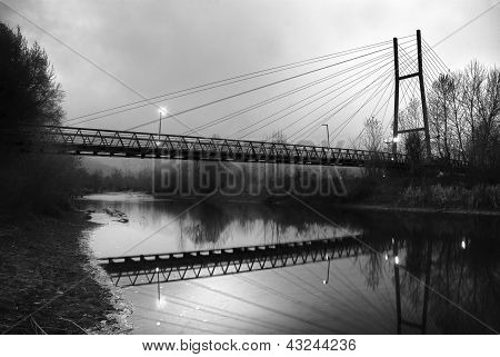 Suspension bridge in Missoula, Montana