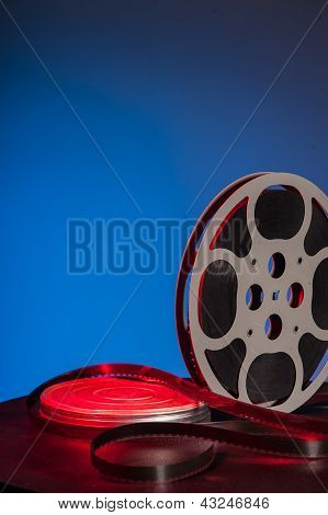 Film Reel With Movie Film - Space For Text