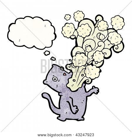 cartoon cat belching