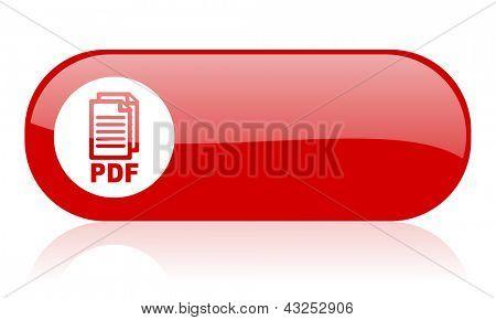 pdf red web glossy icon