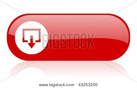 exit red web glossy icon