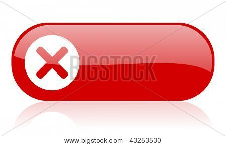cancel red web glossy icon