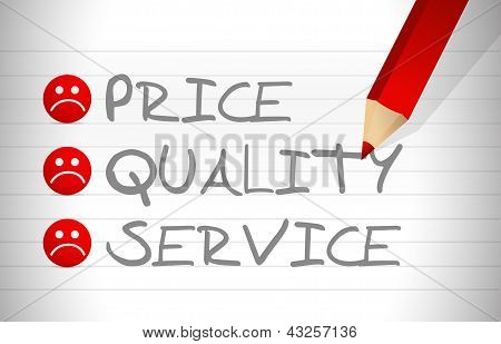 Evaluate Price, Quality And Service