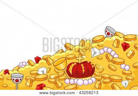 Background Illustration of Treasure-trove