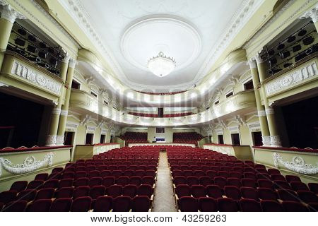 MOSCOW - JANUARY 27: Empty hall in Palace on Yauza on January 27, 2012 in Moscow, Russia. From 1947 to 1959 Mossoviet Theatre located here.
