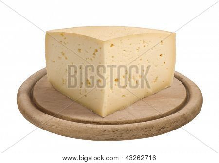quarter of a form of Asiago cheese