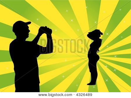 Photo Session Vector Illustration
