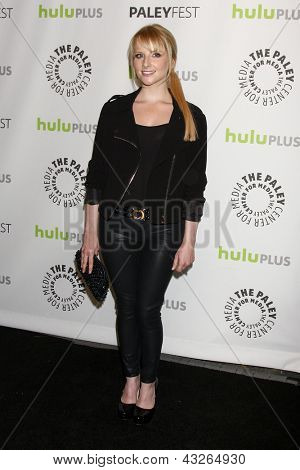 LOS ANGELES - MAR 13:  Melissa Rauch arrives at the