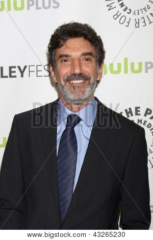 "LOS ANGELES - MAR 13:  Chuck Lorre arrives at the  ""Big Bang Theory"" PaleyFEST Event at the Saban Theater on March 13, 2013 in Los Angeles, CA"