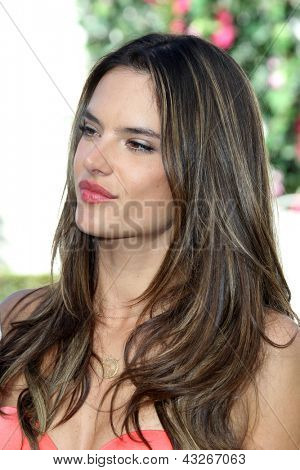 LOS ANGELES - MAR 12:  Alessandra Ambrosio at the Victoria's Secret 2013 Swim Collection Debut at the Private Residence on March 12, 2013 in Beverly Hills, CA