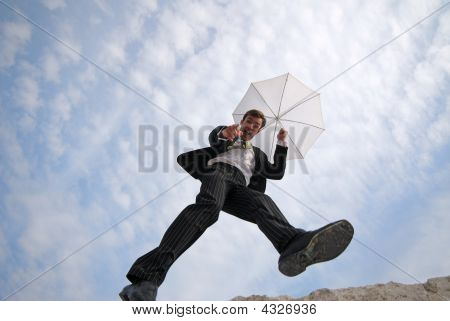 Man And Umbrella