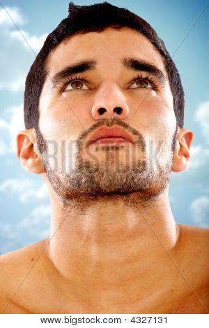 Постер, плакат: Мода мужской портрет, холст на подрамнике