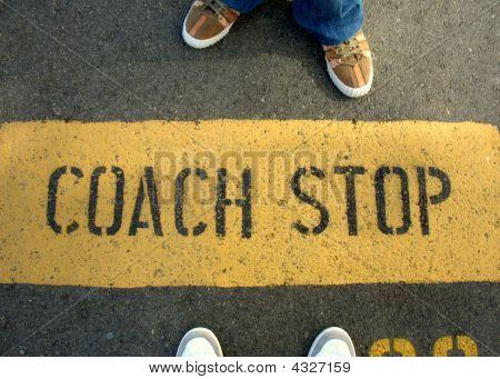 Coach Stop Sign