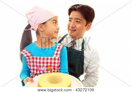 The girl who enjoys cooking