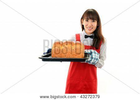 Beautiful woman cooking