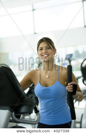 Gym Woman Exercising