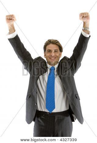 Homem desfrutando de sucesso nos negócios