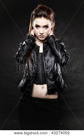 Beauty Punk Girl In Leather, Subculture