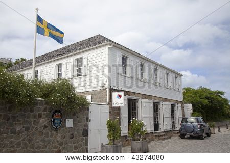Swedish consulate in Gustavia, St Barths