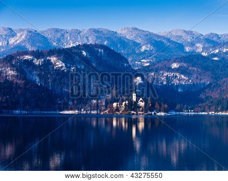 Lake Bled on a morning sun