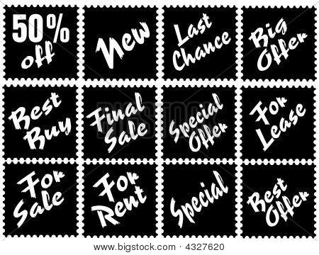 Advertising Stamps Black