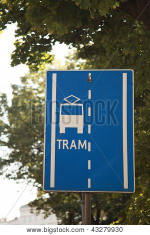 Tram Sign, Krakow