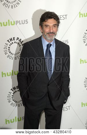 "BEVERLY HILLS - MARCH 13: Chuck Lorre arrives at the 2013 Paleyfest ""The Big Bang Theory"" panel on March 13, 2013 at the Saban Theater in Beverly Hills, CA."