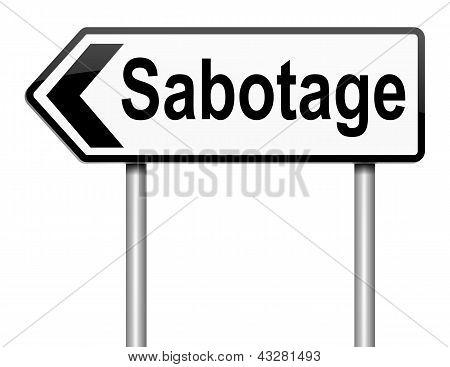 Sabotear el signo de concepto.