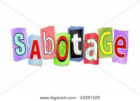 Conceito de sabotagem.