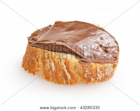Baguette Slice Spread With Nut-choco Paste