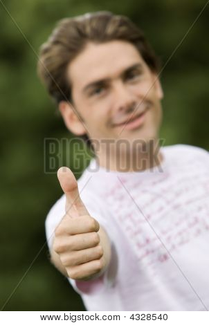 Casual Man Thumbs Up
