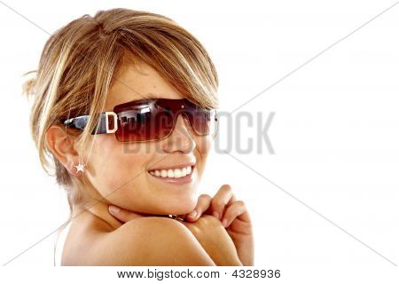 Fashion Girl Portrait - Sunglasses