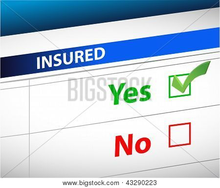 Insurance Checklist Selection Over