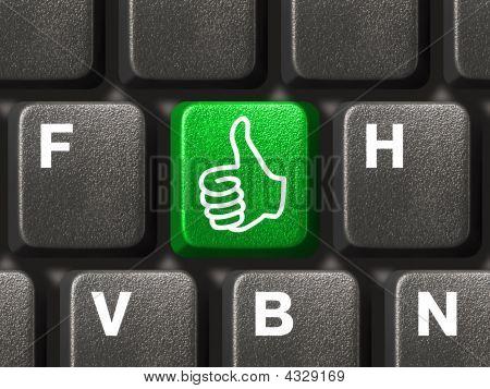 Computer Keyboard With Thumb Key