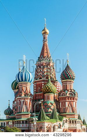 Famous st Vasily Blessed cathedral in Moscow