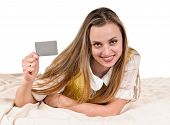 Young Woman With Card