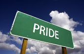 stock photo of swagger  - Pride Road Sign  - JPG